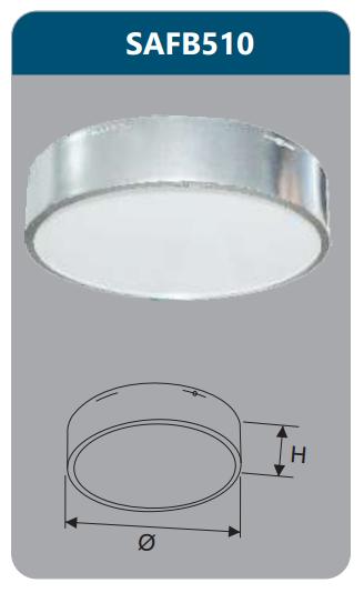Đèn ốp trần led 9w SAFB510