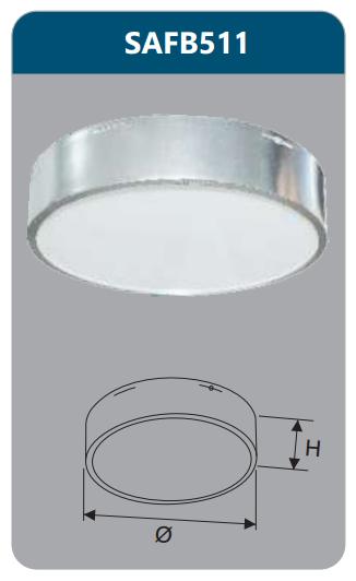 Đèn ốp trần led 12w SAFB511