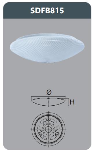 Đèn ốp trần led 15w SDFB815