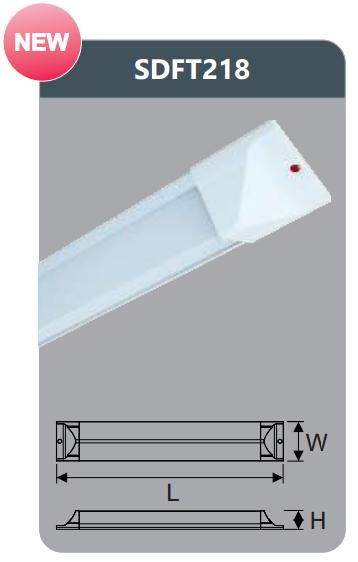 Đèn ốp trần led chụp mica 36w SDFT218