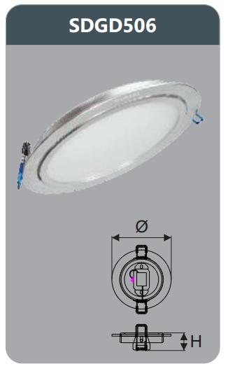 Đèn led panel âm trần tròn 6w SDGD506
