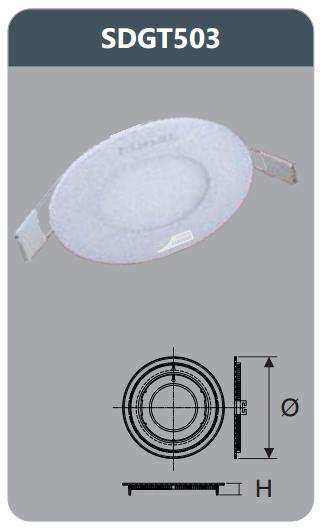 Đèn led panel âm trần tròn 3w SDGT503