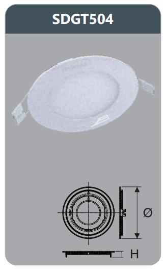 Đèn led panel âm trần tròn 4w SDGT504