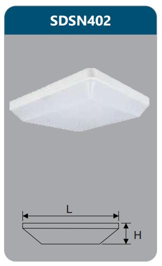 Đèn ốp trần led chống thấm 18w SDSN402