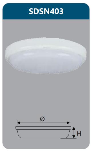 Đèn ốp trần led chống thấm 15w SDSN403