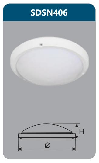 Đèn ốp trần led chống thấm 18w SDSN406