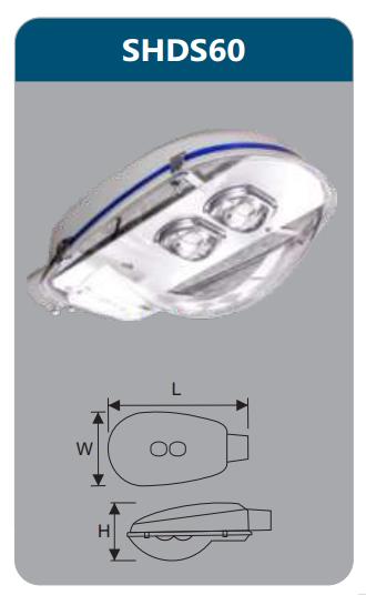 Đèn đường led 60w SHDS60