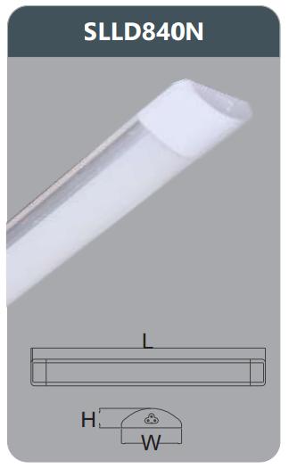Đèn ốp trần led chụp mica 40w SLLD840N