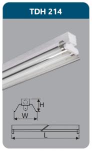 Đèn công nghiệp phản quang 2x14w TDH214