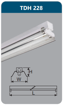 Đèn công nghiệp phản quang 2x28w TDH228