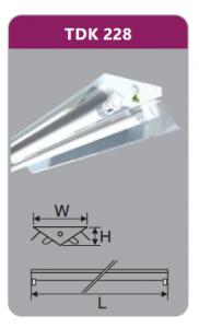 Đèn ốp trần led siêu mỏng 2x28w TDK228