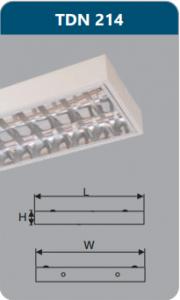 Máng đèn phản quang gắn nổi 2x14w TDN214