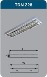 Máng đèn phản quang gắn nổi 2x28w TDN228