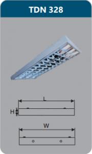 Máng đèn phản quang gắn nổi 3x28w TDN328
