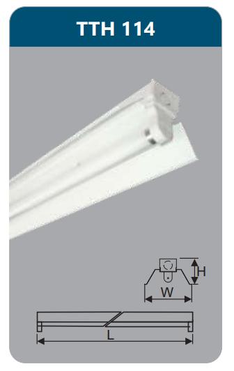 Đèn công nghiệp sơn tĩnh điện1x14w TTH114