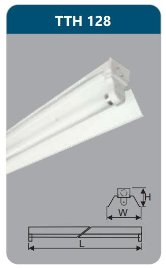 Đèn công nghiệp sơn tĩnh điện1x28w TTH128