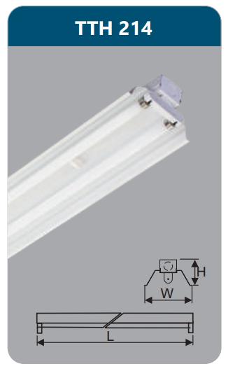 Đèn công nghiệp sơn tĩnh điện2x14w TTH214