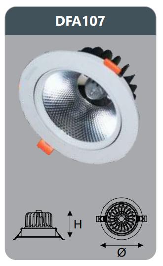 Đèn led chiếu sâu âm trần 7w DFA107