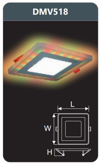 Đèn led panel đổi màu âm trần 18w DMV518
