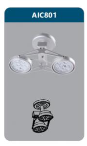 Đèn led chiếu điểm thanh ray2x9w AIC801