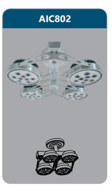 Đèn led chiếu điểm thanh ray4x9w AIC802
