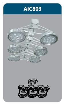 Đèn led chiếu điểm thanh ray6x9w AIC803