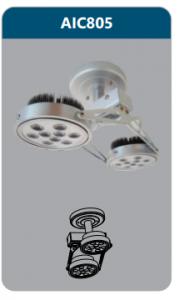 Đèn led chiếu điểm thanh ray2x12w AIC805