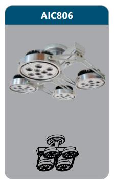 Đèn led chiếu điểm thanh ray4x12w AIC806