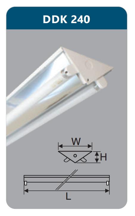 DDK240, V-SHAPE, đèn chữ V, đèn led công nghiệp