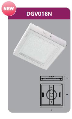 Đèn led panel gắn nổi vuông 18w DGV018N