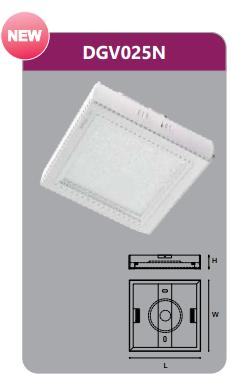 Đèn led panel gắn nổi vuông 25w DGV025N