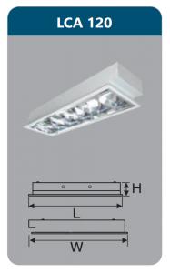 Máng đèn phản quang âm trần 1x18w LCA120