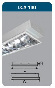 Máng đèn phản quang âm trần 1x18w LCA140