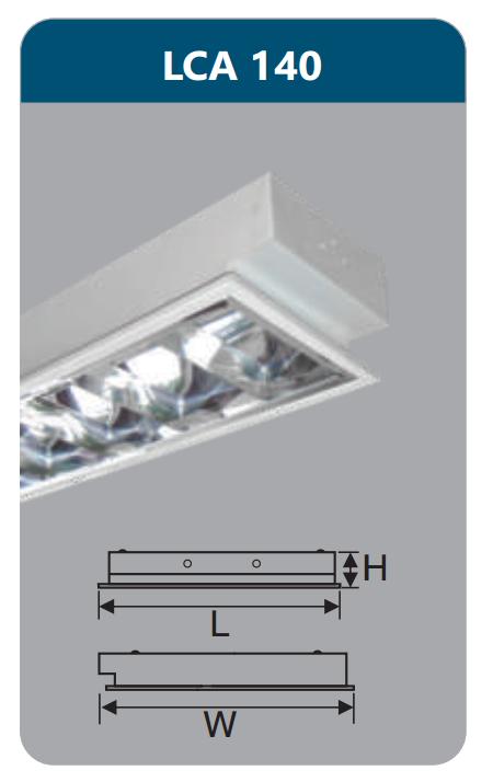 Máng đèn tán quang âm trần 1x18w LCA140