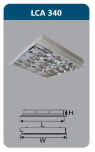 Máng đèn phản quang âm trần 3x18w LCA340
