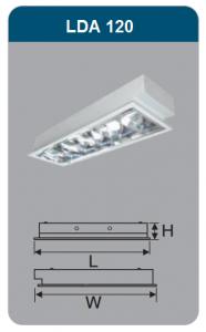 Máng đèn phản quang âm trần 1x18w LDA120