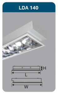 Máng đèn phản quang âm trần 1x18w LDA140