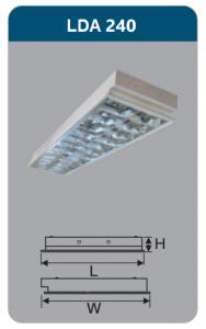 Máng đèn phản quang âm trần 2x18w LDA240
