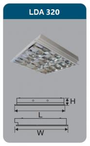 Máng đèn phản quang âm trần 3x9w LDA320