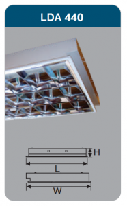 Máng đèn phản quang âm trần 4x18w LDA440