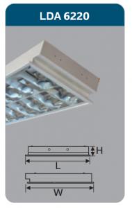 Máng đèn phản quang âm trần 2x9w LDA6220