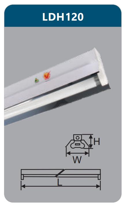 Đèn công nghiệp phản quang 1x9w LDH120