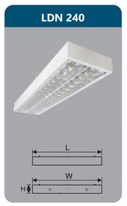 Máng đèn phản quang gắn nổi 2x18w LDN240