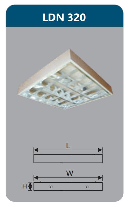 Máng đèn phản quang gắn nổi 3x9w LDN320