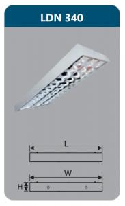 Máng đèn phản quang gắn nổi 3x18w LDN340