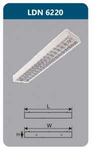 Máng đèn phản quang gắn nổi 2x9w LDN6220