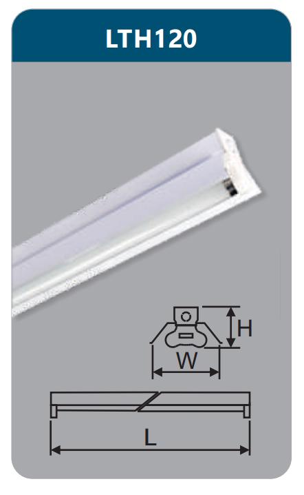Đèn công nghiệp sơn tĩnh điện1x9w LTH120