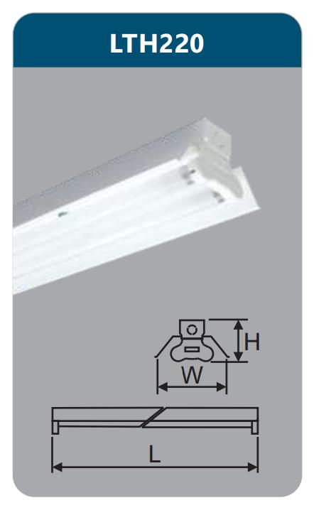 Đèn công nghiệp sơn tĩnh điện2x9w LTH220