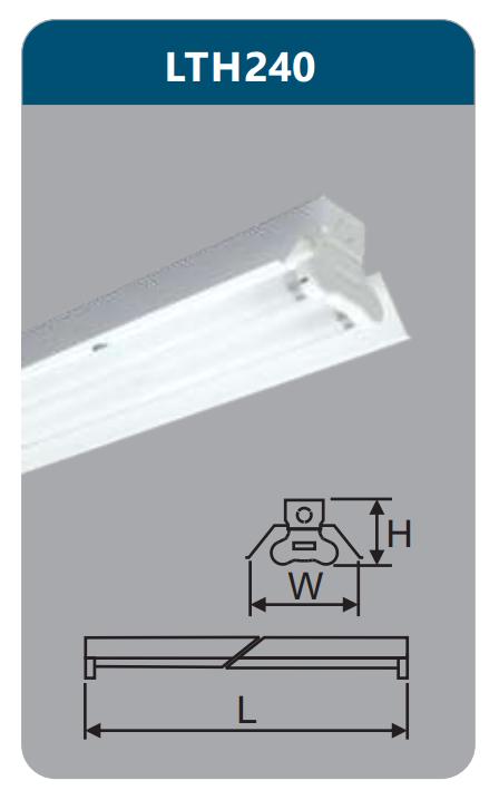 Đèn công nghiệp sơn tĩnh điện2x18w LTH240