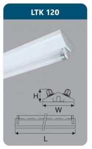 Đèn công nghiệp sơn tĩnh điện1x9w LTK120